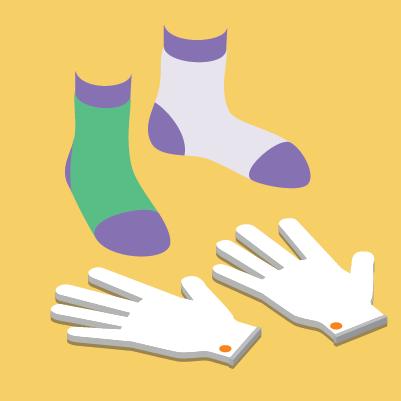 Medias, guantes y tatuajes