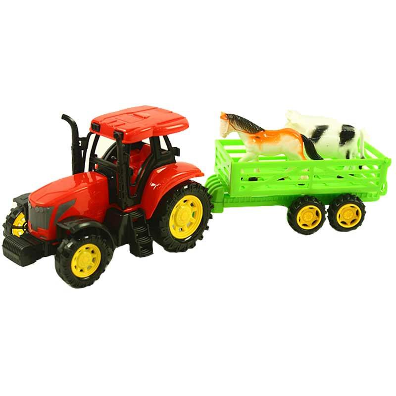 Tractor fricción con animales