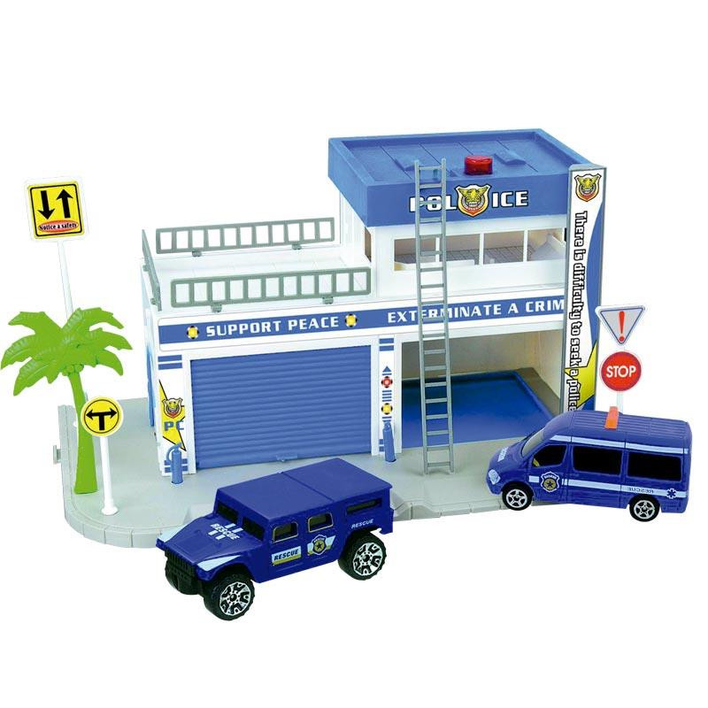Pista circuito de Policía con 4 vehículos