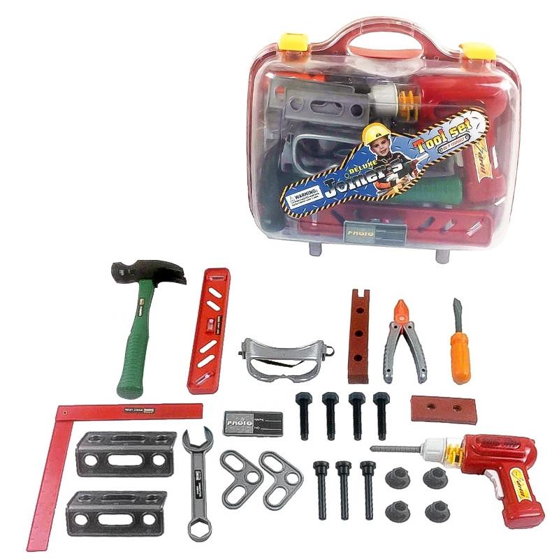 Set de herramientas con taladro con luz