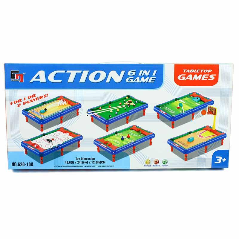 Mini tabla de juegos 6 em 1