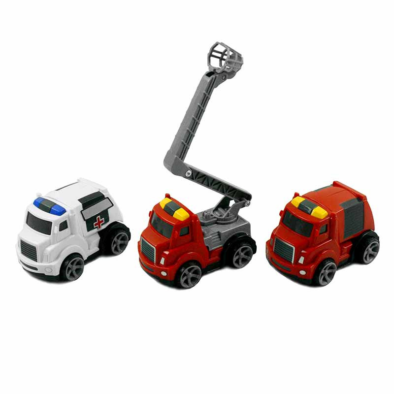 Set de 3 coches de rescate