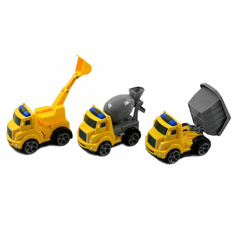 Set de 3 coches de construcción