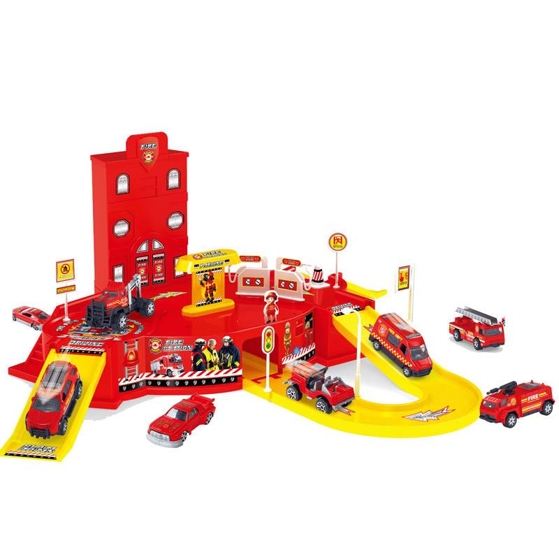 Pista circuito parking de 2 alturas - Bomberos