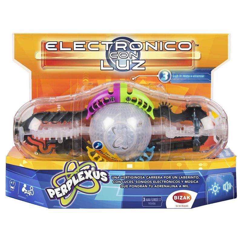 Perplexus electrónico con luz