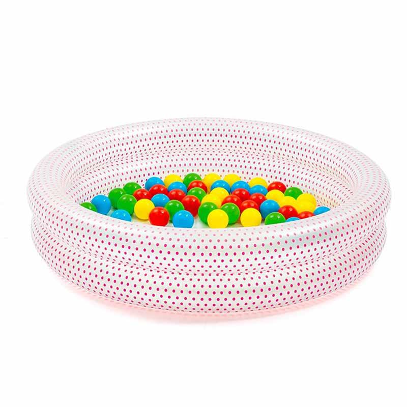Piscina infantil con bolas de colores Φ91 x 20 cm