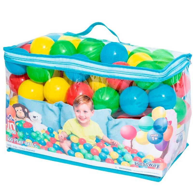 Bolsa de 100 Bolas de Ø6,5 cm Splash & Play