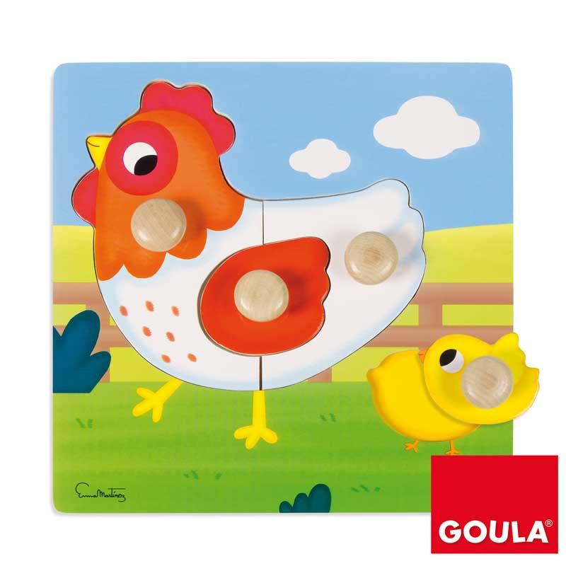 Puzzle gallina pivotes grandes