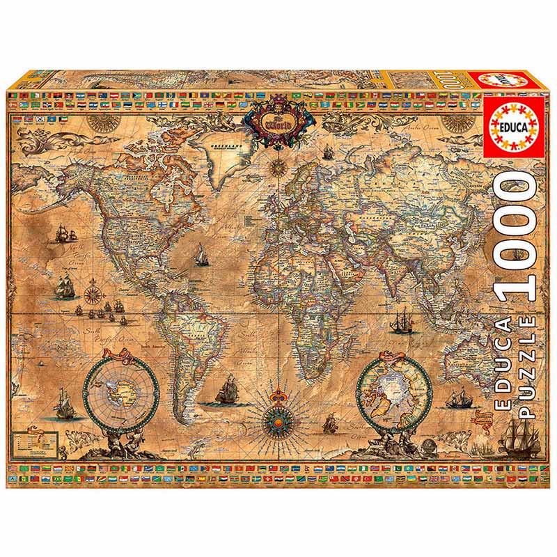 Educa puzzle 1000 mapamundi
