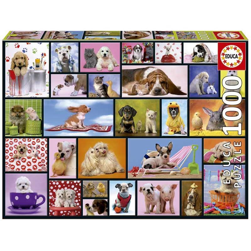 Educa puzzle 1000 perritos y gatitos