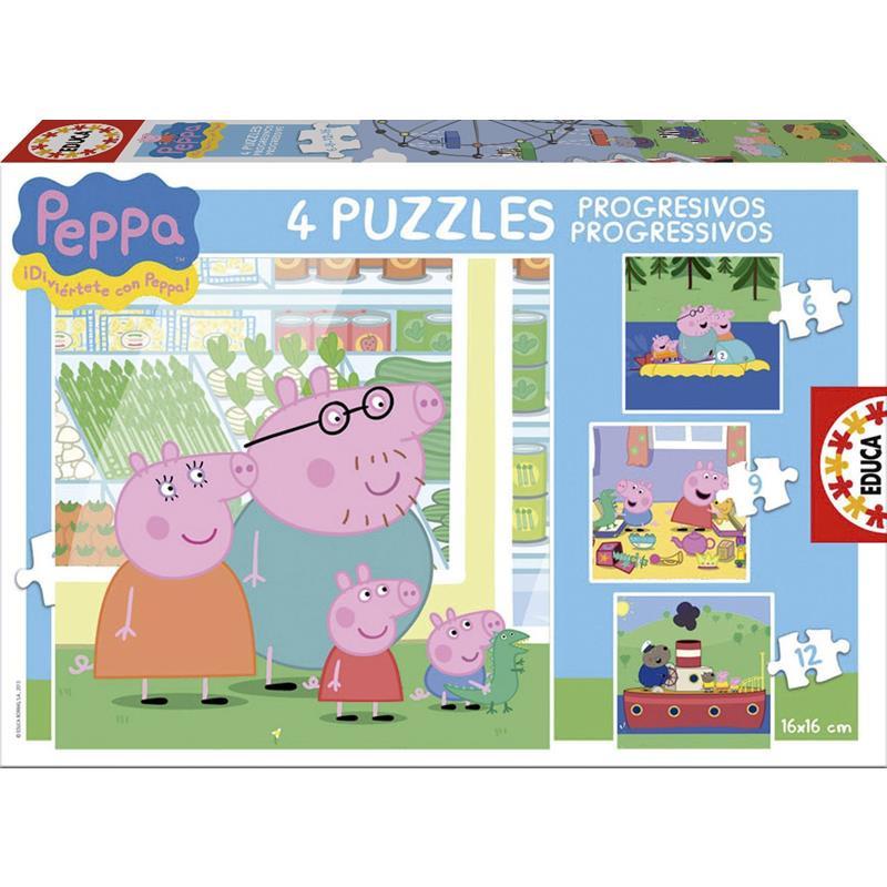Educa puzzle  progressivo Peppa Pig 6-9-12-16