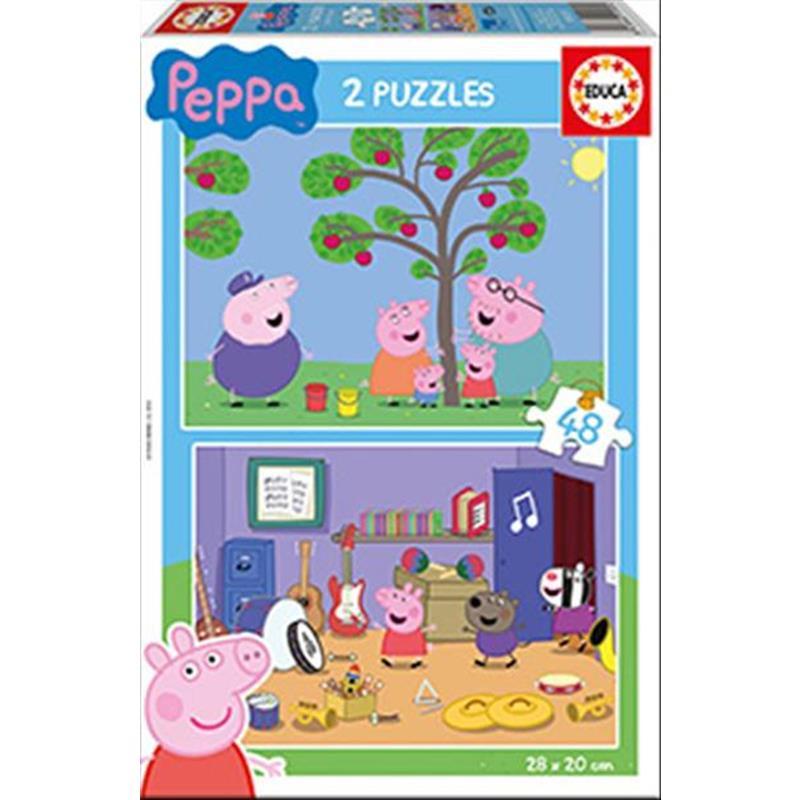 Educa puzzle 2x48 Peppa Pig