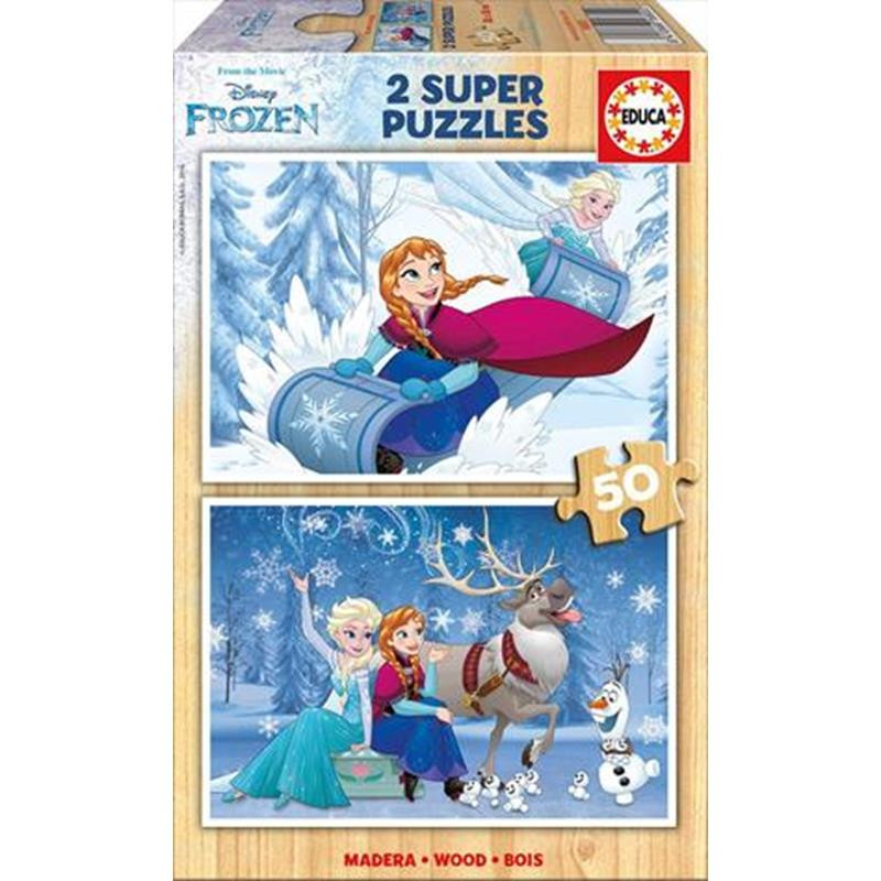 Educa puzzle madera 2x50 Frozen
