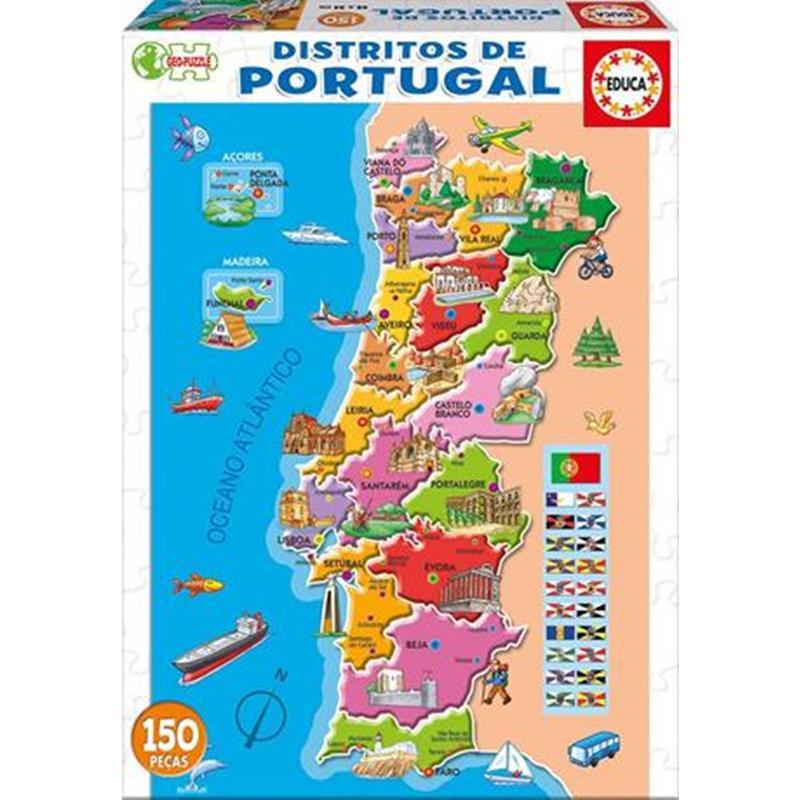Educa puzzle 150 distritos de Portugal (po)