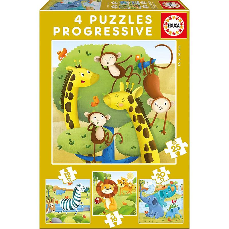 Educa puzzle progresivo  animales salva