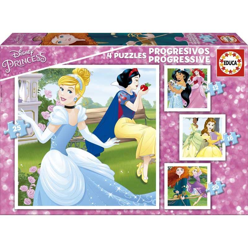 Educa puzzle Progresivo Disney princess