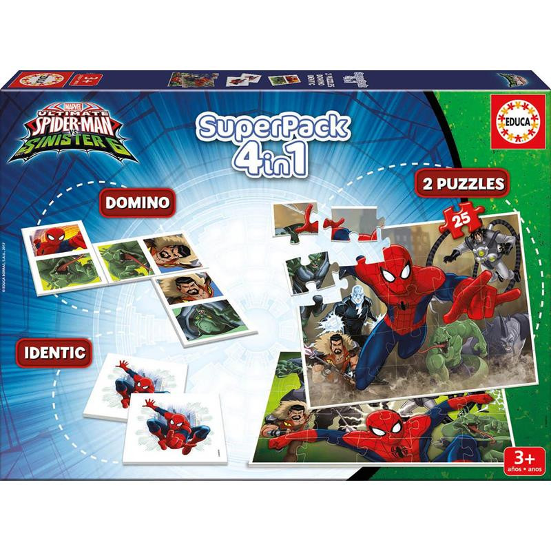 Educa puzzle superpack 4 in 1 spiderman