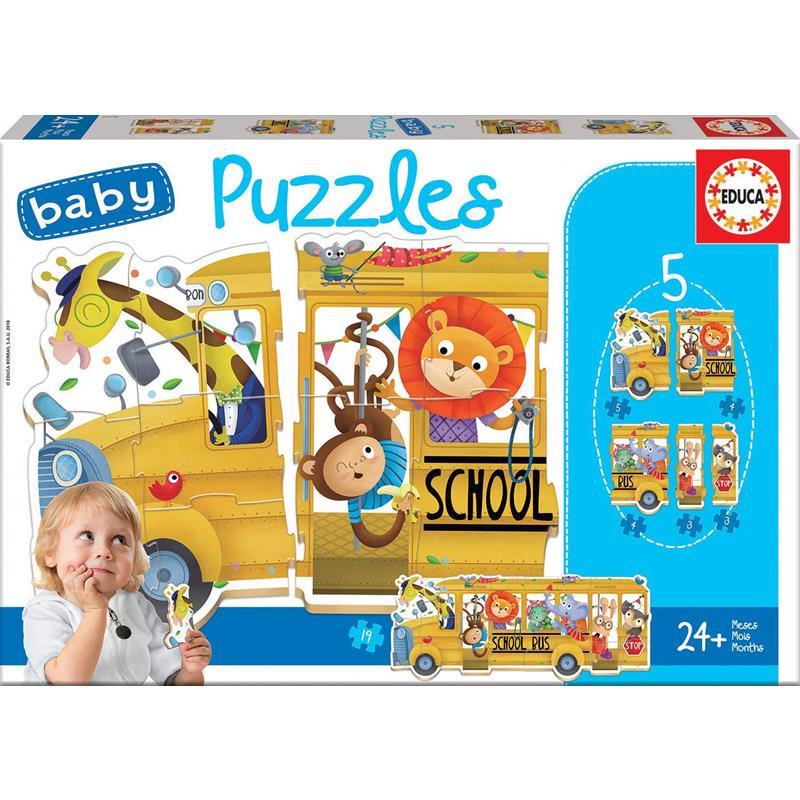 Educa Baby puzzles bus y animales