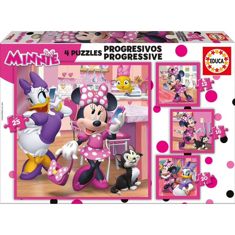 Educa puzzle progresivo Minnie Ayudantes Felices 1