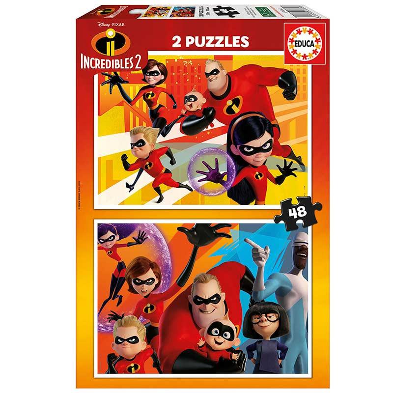 Educa puzzle 2X48 Los increibles 2