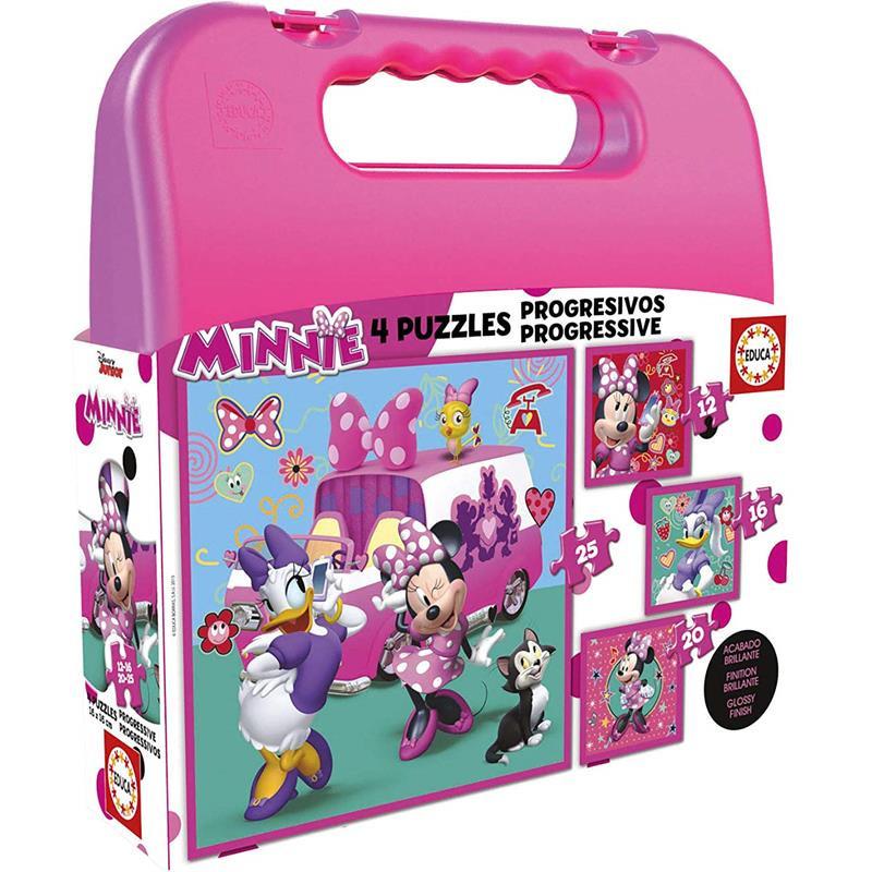 Educa puzzle maleta progresivo Minnie Ayudantes