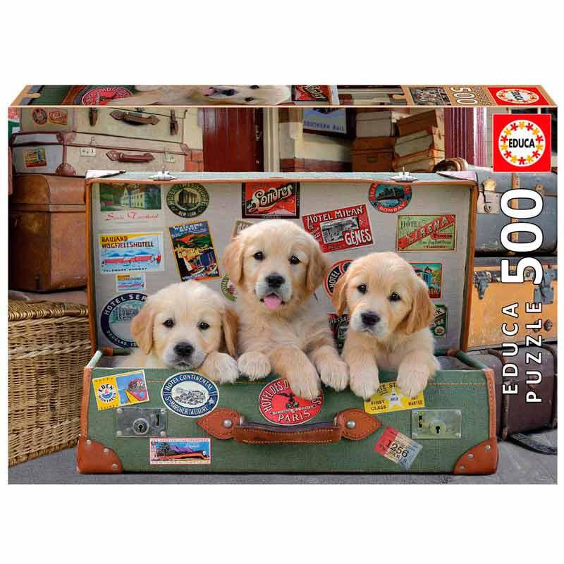 Educa puzzle 500 cachorros en el equipaje