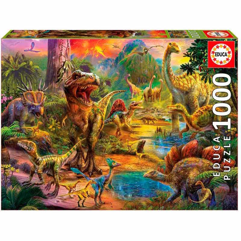 Educa puzzle 1000 tierra de dinosaurios