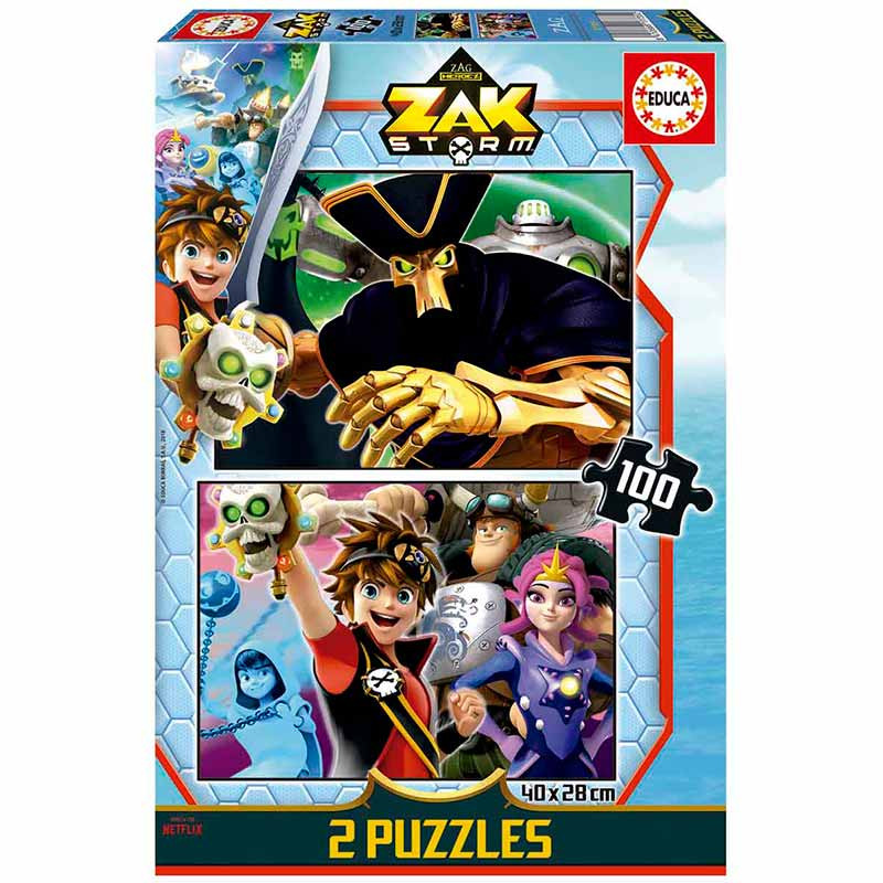 Educa puzzle 2x100 Zak Storm