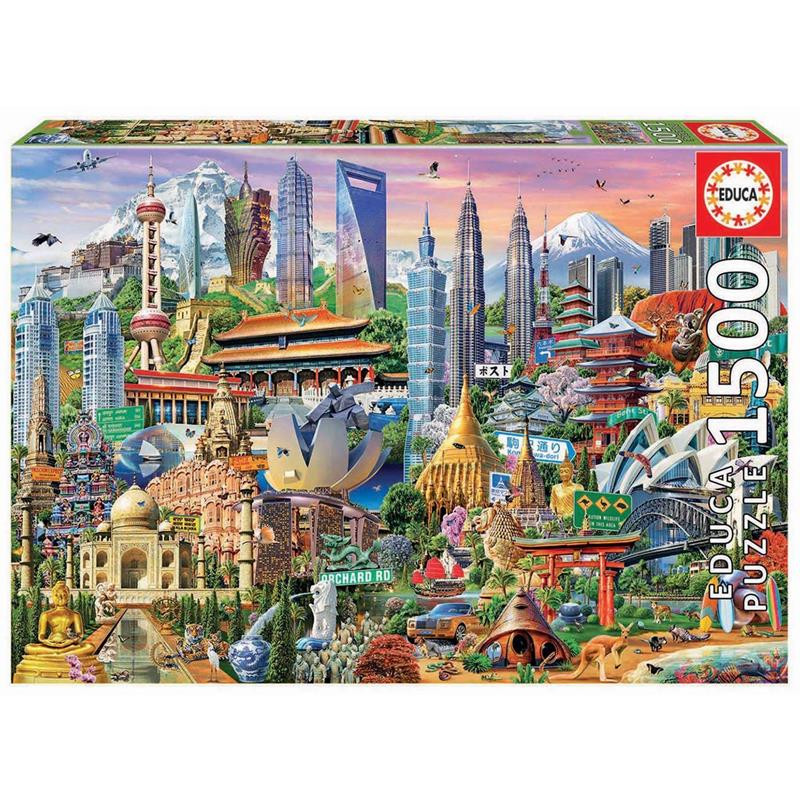 Educa puzzle 1500 símbolos de Asia