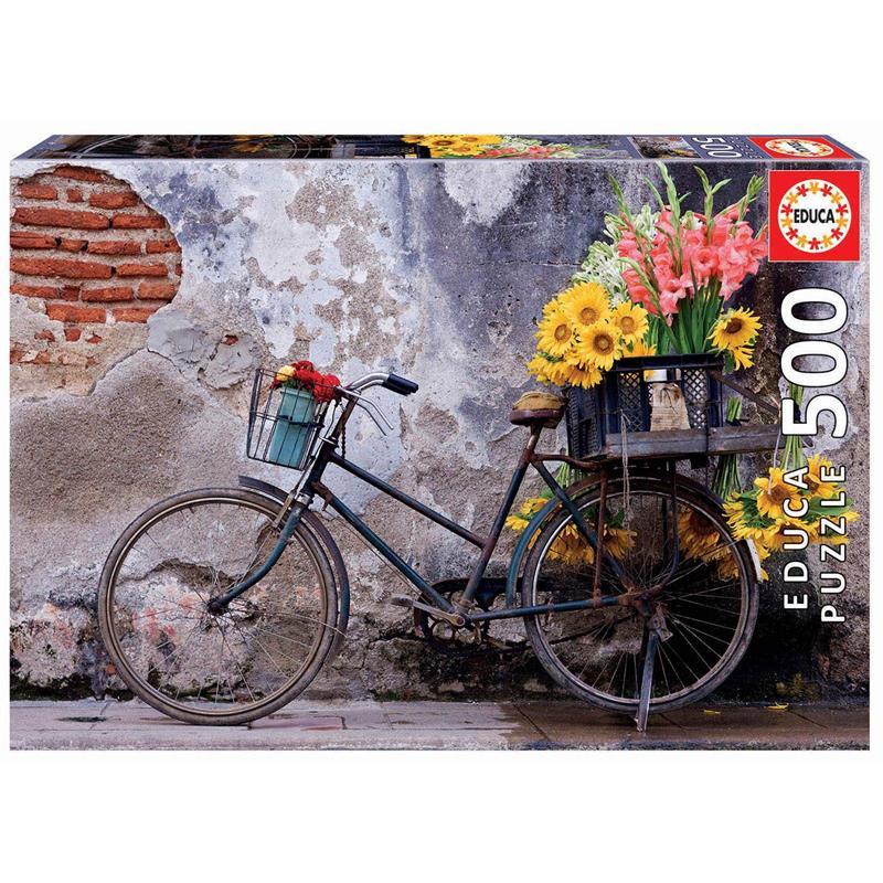 Educa Puzzle 500 bicicleta con flores