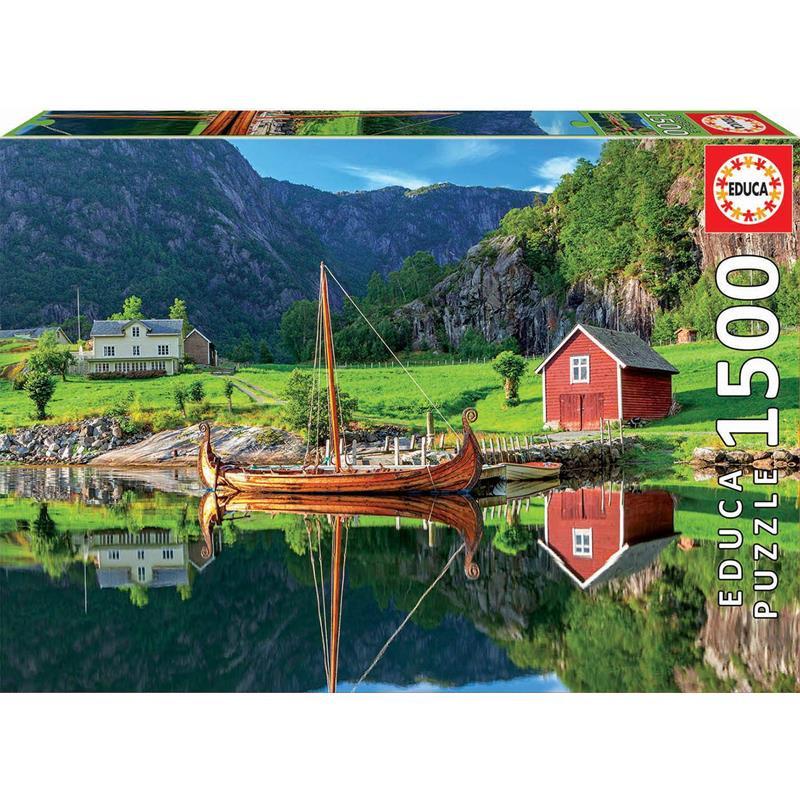 Educa puzzle 1500 barco vikingo