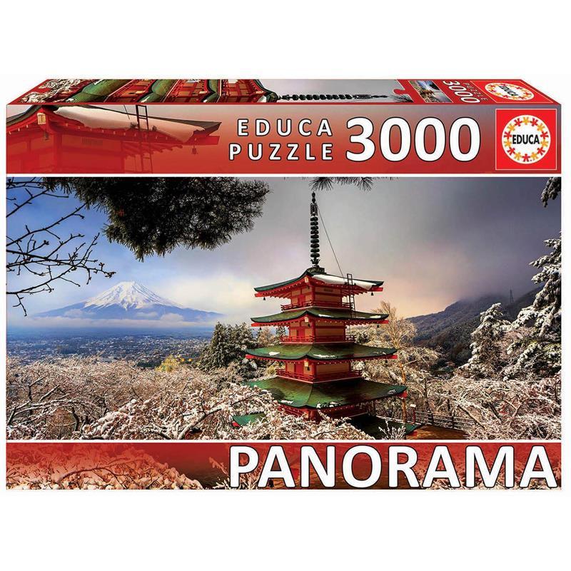 Educa 3000 monte Fuji y pagoda Chureito Japón