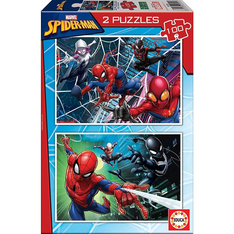 Educa Puzzle 2x100 Spiderman