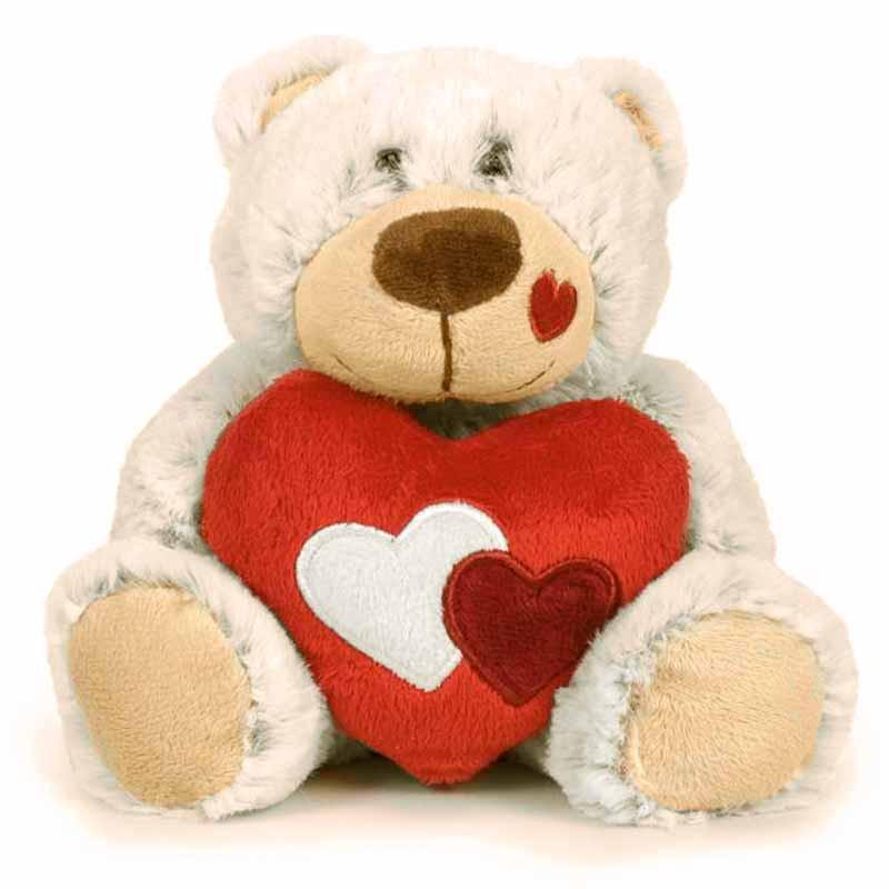 Osito blanco San Valentín 22 cm