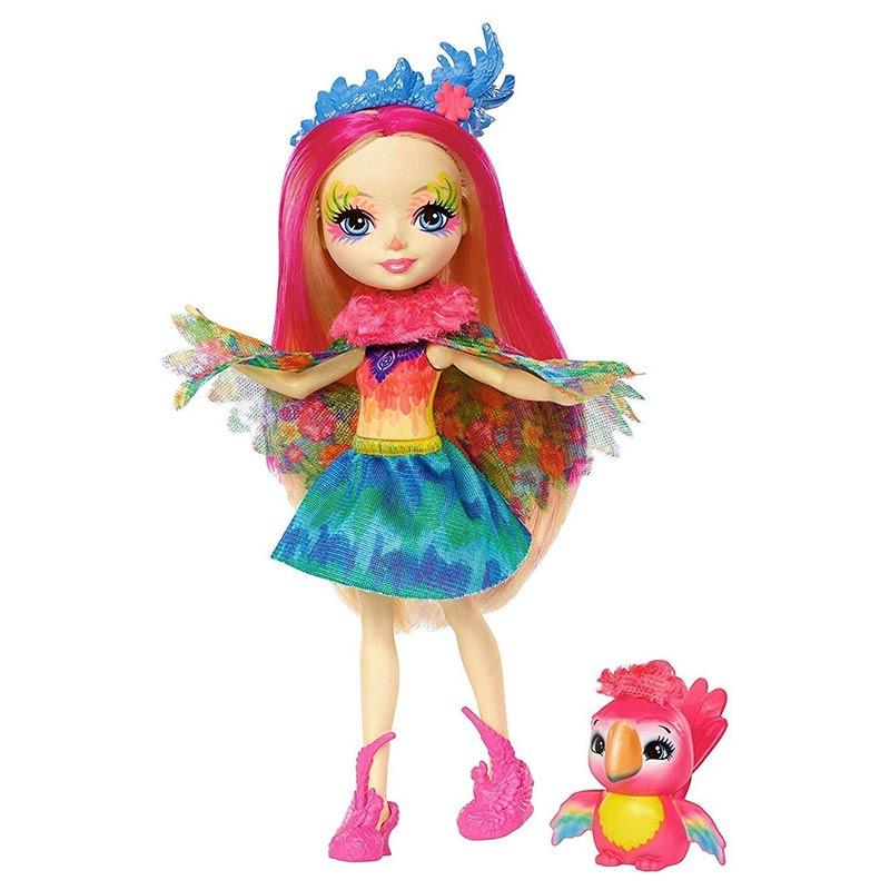 Enchantimals Muñeca con mascota Peeki Parrot