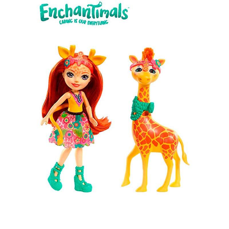 Enchantimals Muñeca Gillian Girafe y Pawl