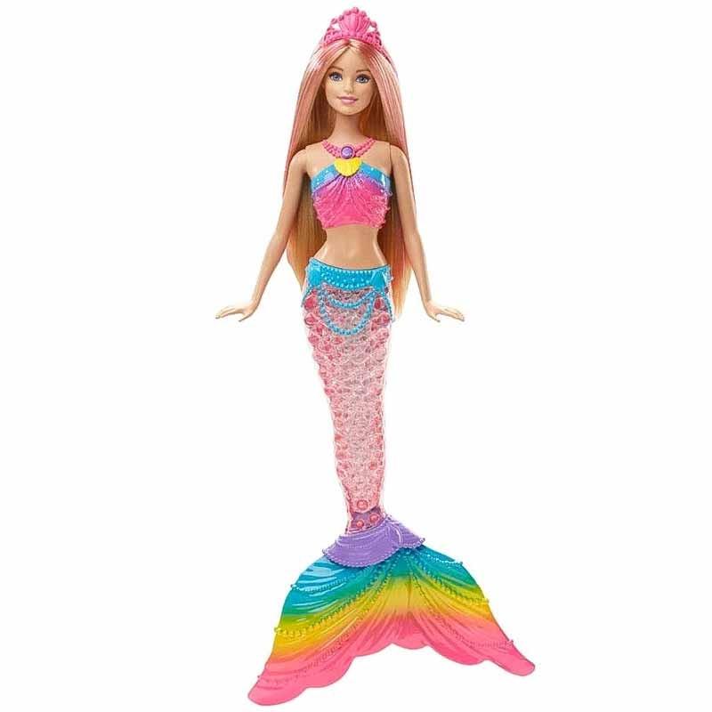 Barbie sirena luces de arco iris