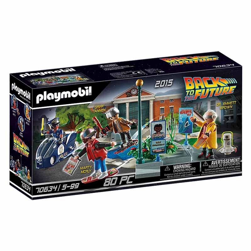 Playmobil Regreso al futuro perecución monopatín