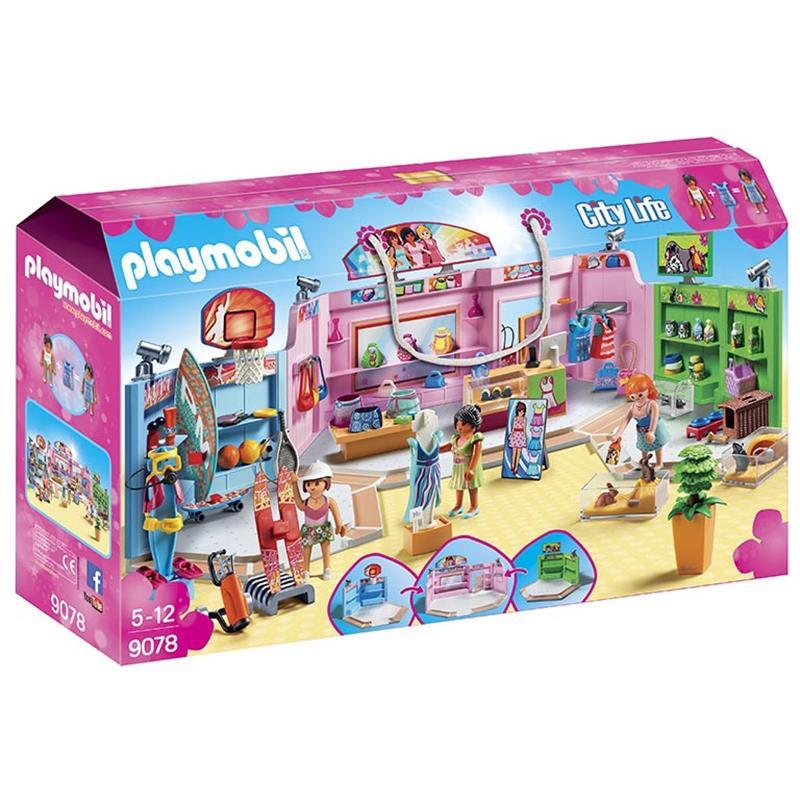 Playmobil Paseo Comercial con 3 tiendas