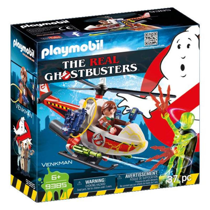 Playmobil Venkman con helicóptero