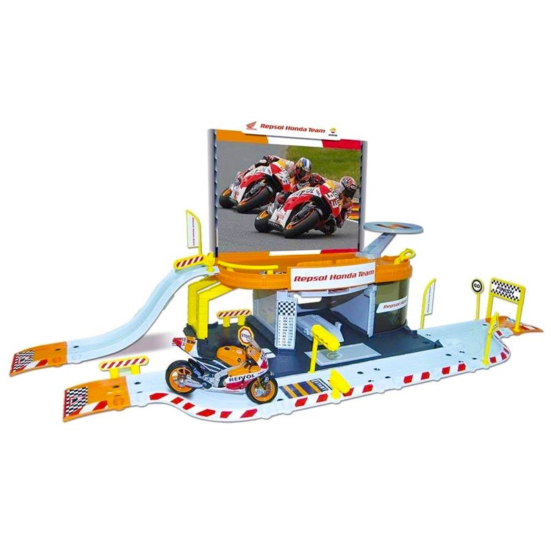 Garaje Repsol Honda Con Moto Amarillo