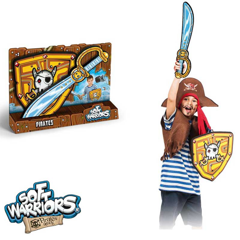 Espada y escudo pirata de foam