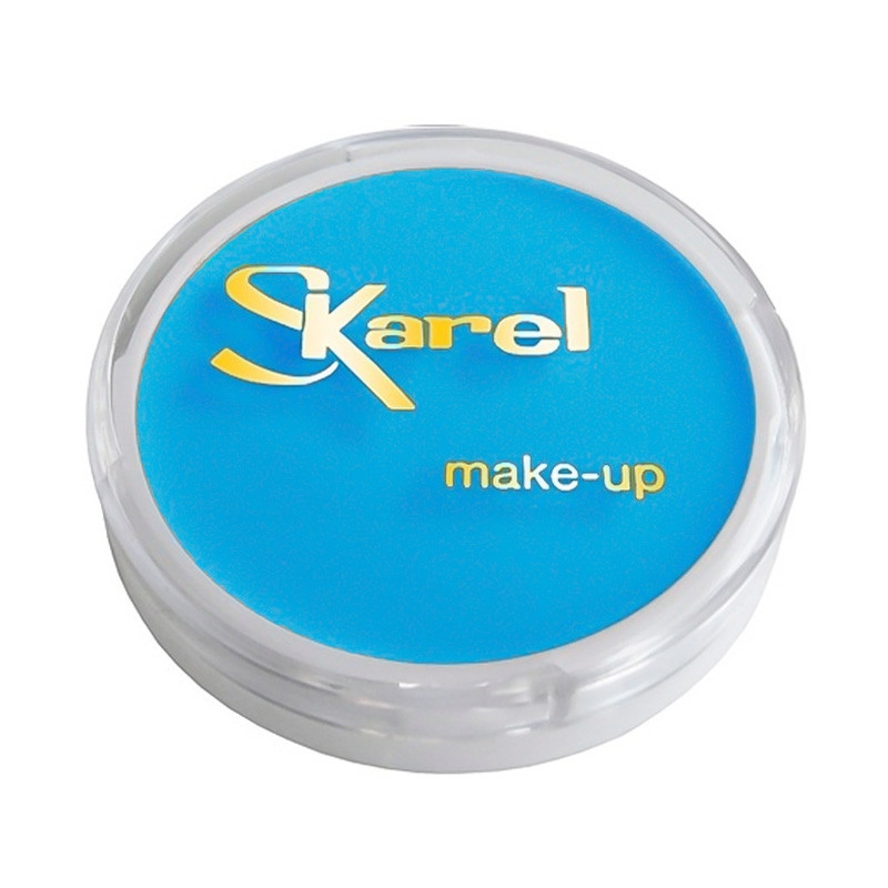 Maquillaje facial Azul Claro