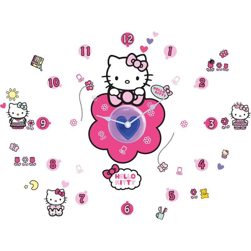 Hello Kitty reloj de pared con pegatinas