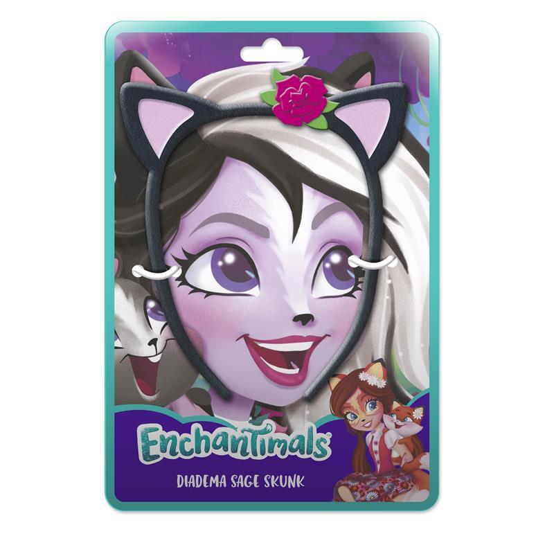 Diadema peluche Enchantimals Sage Skunk