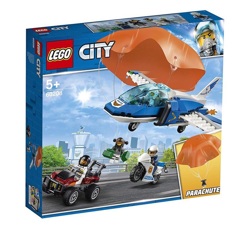 LEGO City policía arresto del ladrón paracaidista