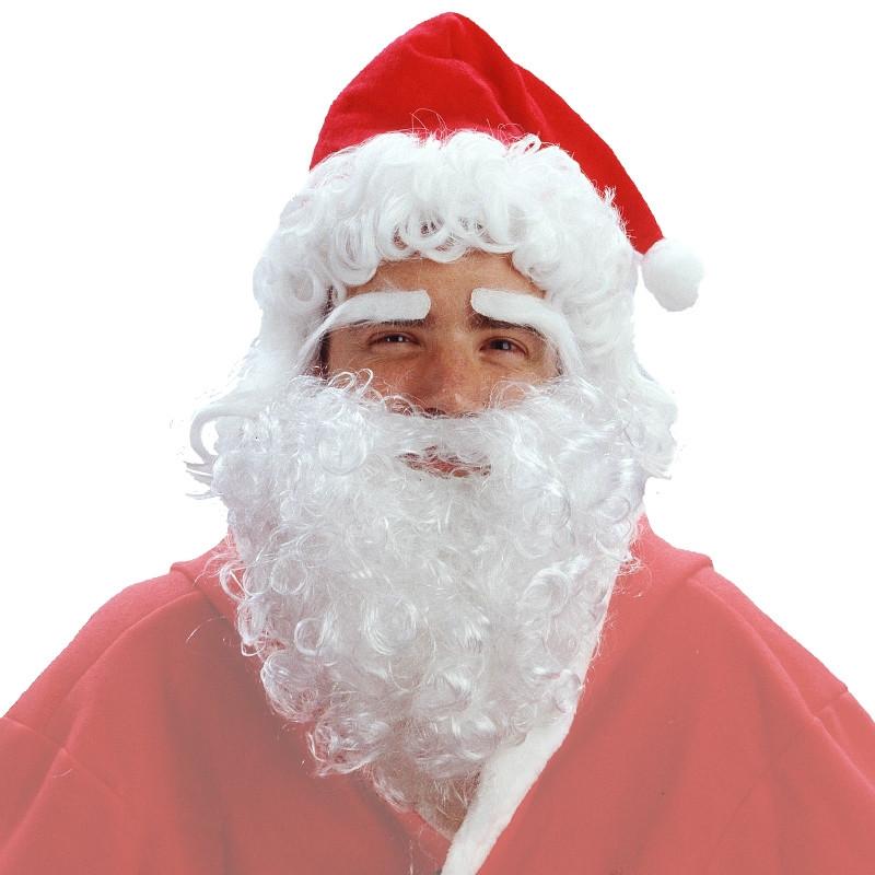 Disfraz Peluca de papá Noel