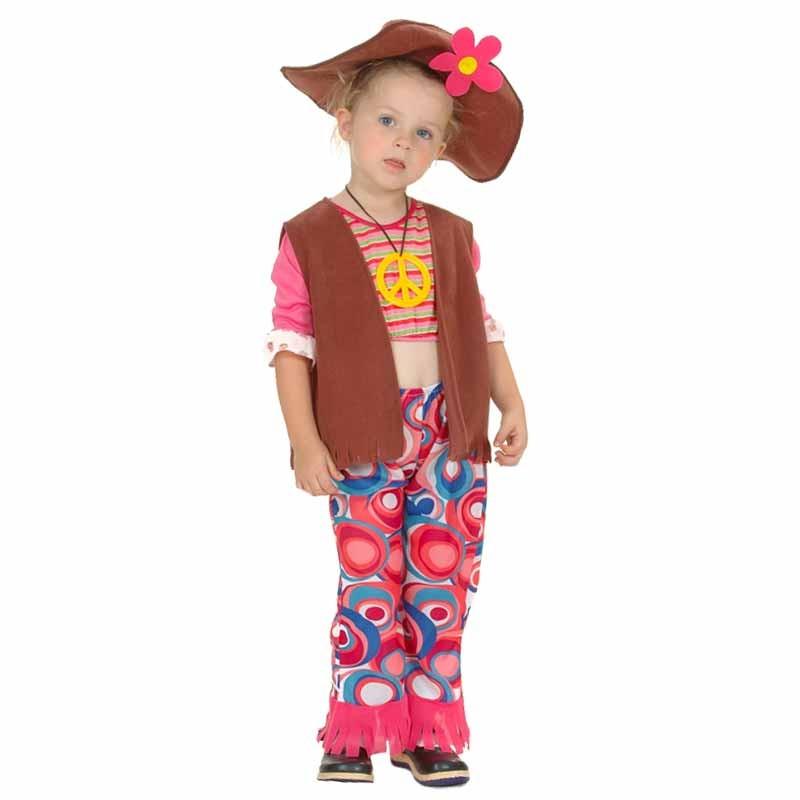 Disfraz niña hippie para bebé