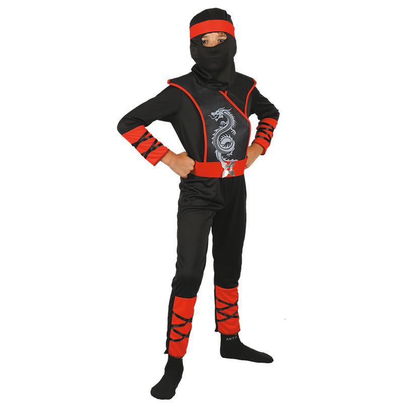 Disfraz Ninja dragón Infantil rojo