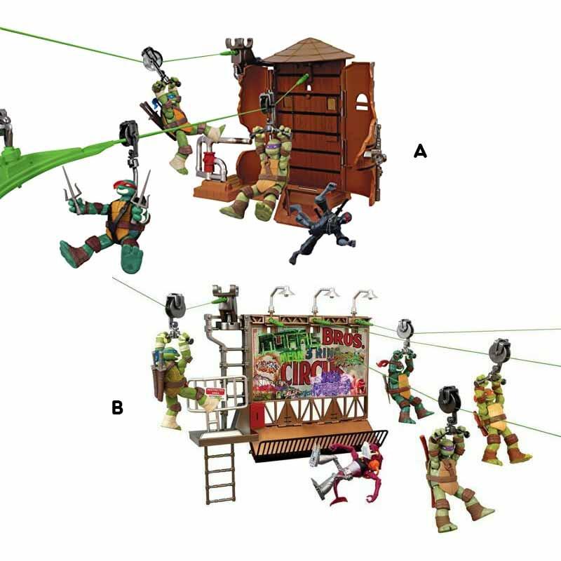 Tortugas Ninja Z-Line Playsets Deluxe